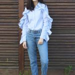 Blue Stripped Blouse Look